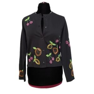 Michael Simon Embellished and Embroidered Cardigan